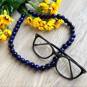 Artisan Blue Ceramic Bead Necklace